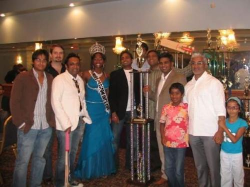2008 CCL Trophy with Miss Guyana