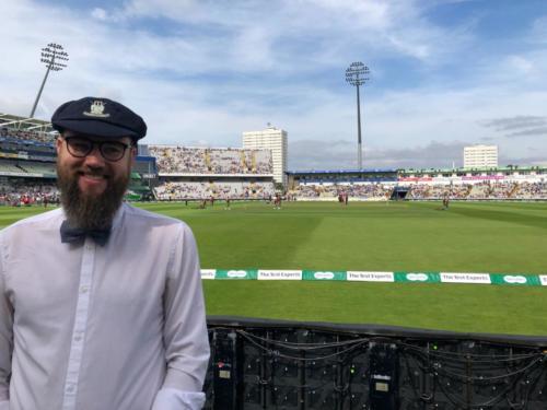 Bryan Caine @ Edgbaston. Ind vs Eng 2018 1st Test